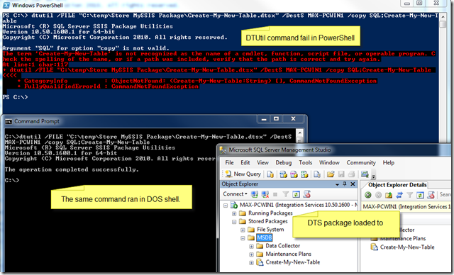Looking back at SQL Server 'DTUtil exe' and PowerShell – Max