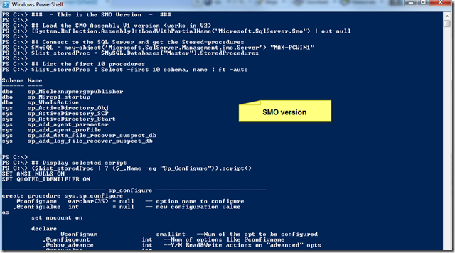 Basic SQL Server Stored-Procedure scripting with PowerShell