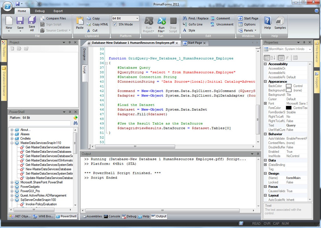 PrimalSQL and PrimalForms 2011, a perfect couple… – Max