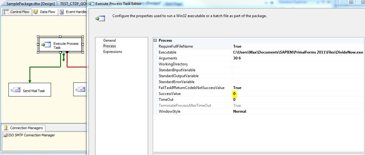 Creating your own ExitCode in PowerShell and use it in SSIS