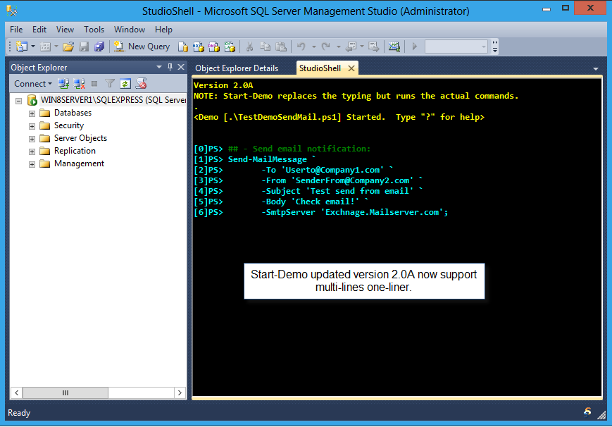 Powershell Start Demo Now Allows Multi Lines One Liner Max Trinidad The Powershell Front