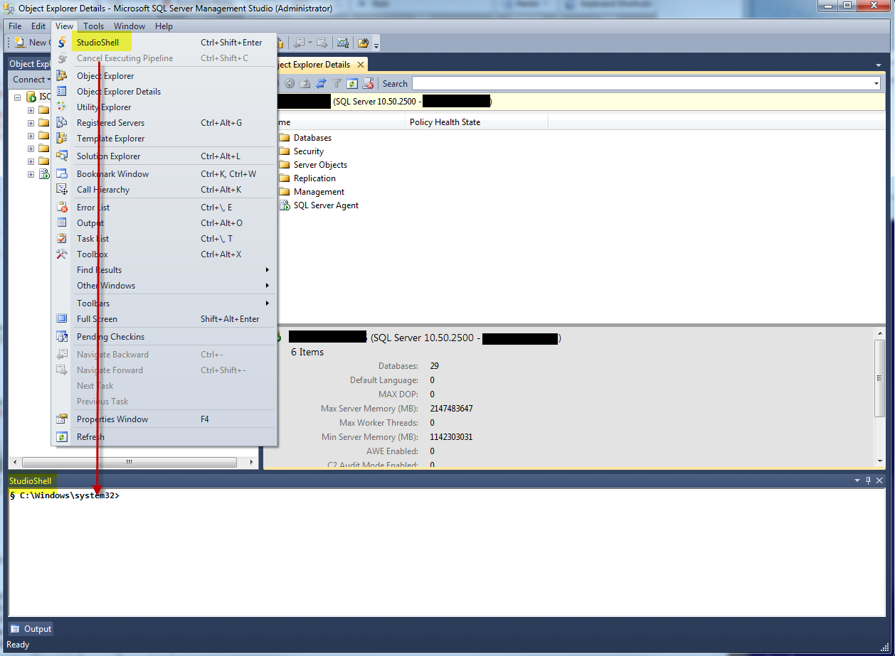 Codeplex Studioshell In Ssms 2012 Try It Max Trinidad The