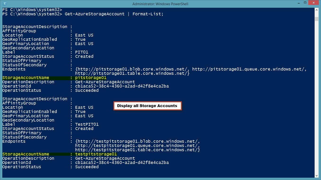 WindowsAzureStorageAcctlist