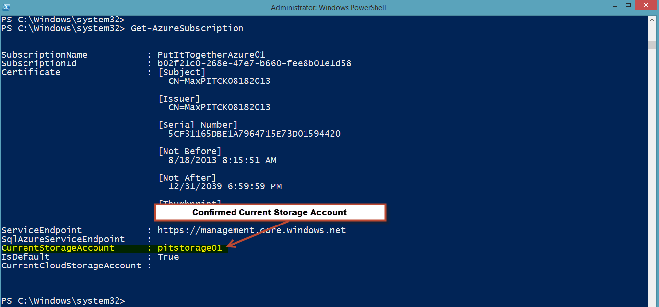 WindowsAzureSubscription
