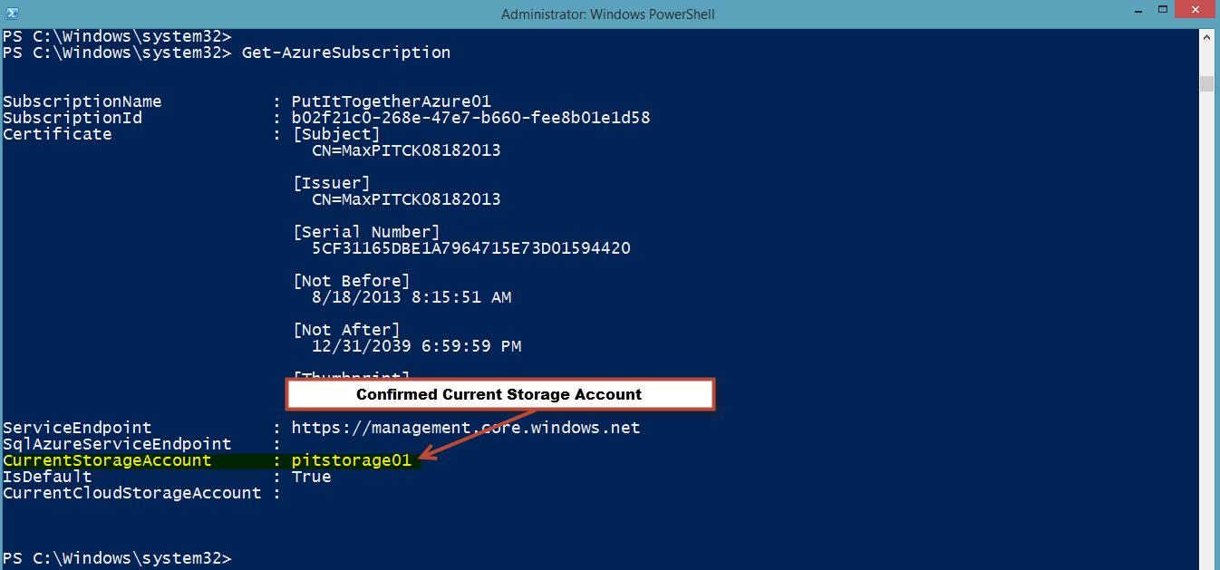 WindowsAzureSubscription