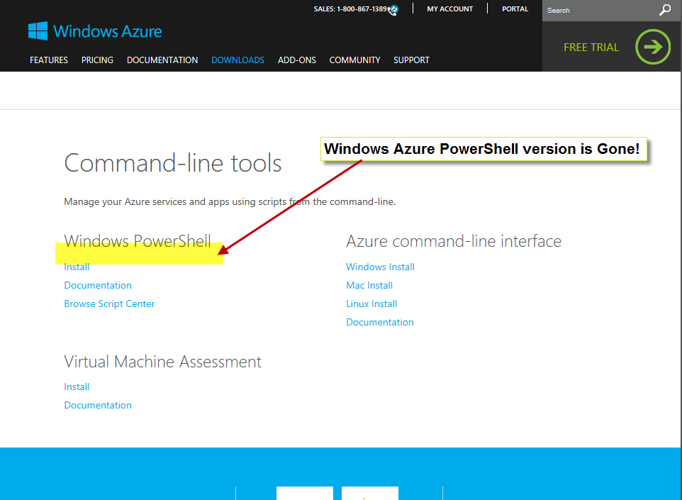 Windows Azure PowerShell version is Gone!