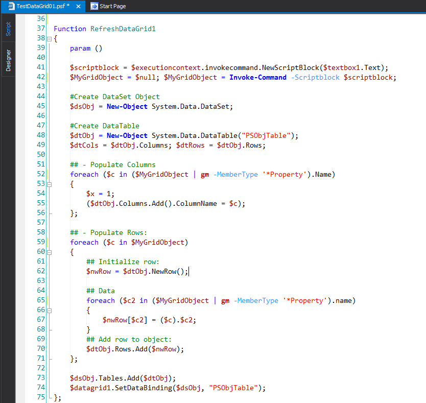 Playing with PowerShell Studio 2015 Windows Form 2/2 – Max