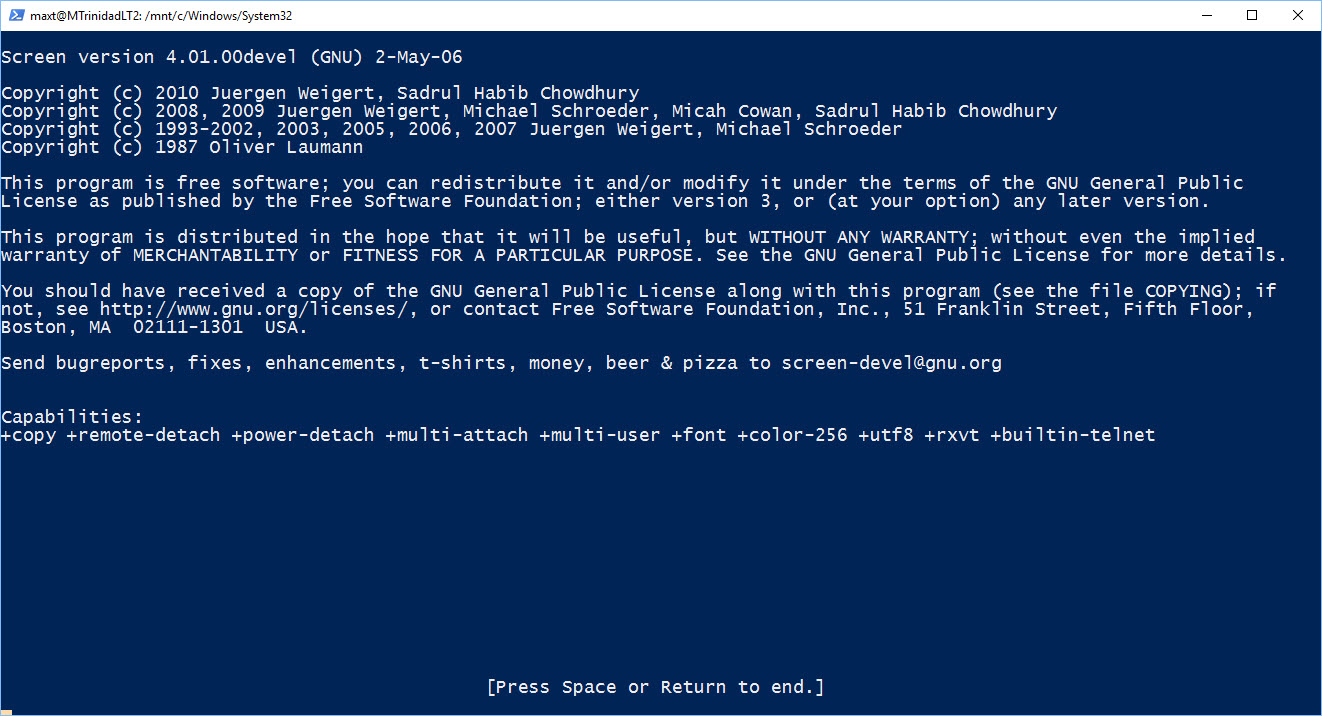 Running PowerShell In Windows 10 BASH (workaround) – Max