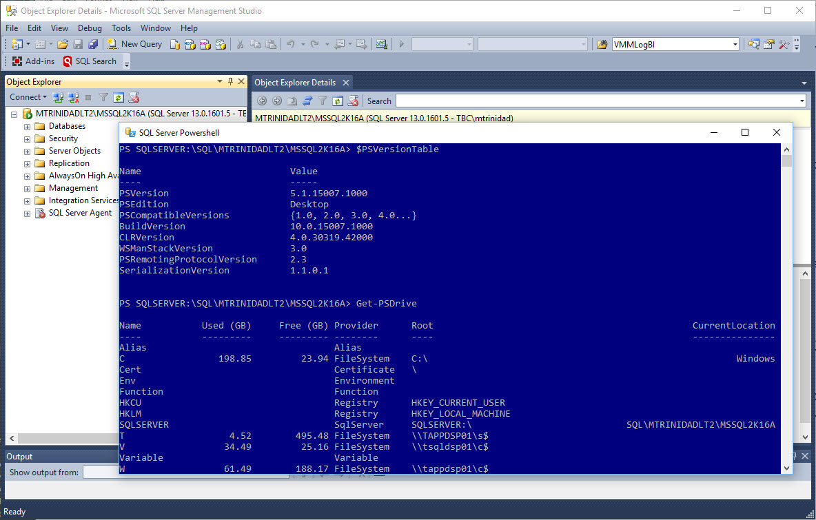 Can you run PowerShell in SQL Server Management Studio? YES