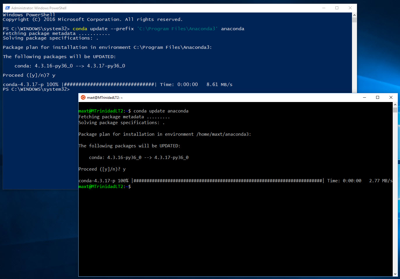 PowerShell, and SQL Server Working with Anaconda – Max Trinidad