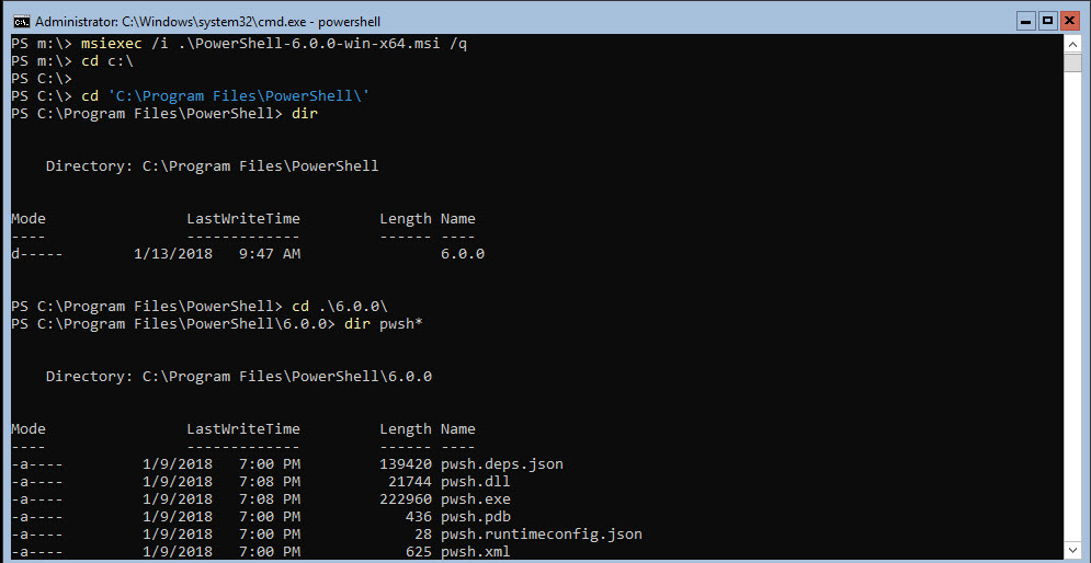 Installing PowerShell Core in Server Core – Max Trinidad – The