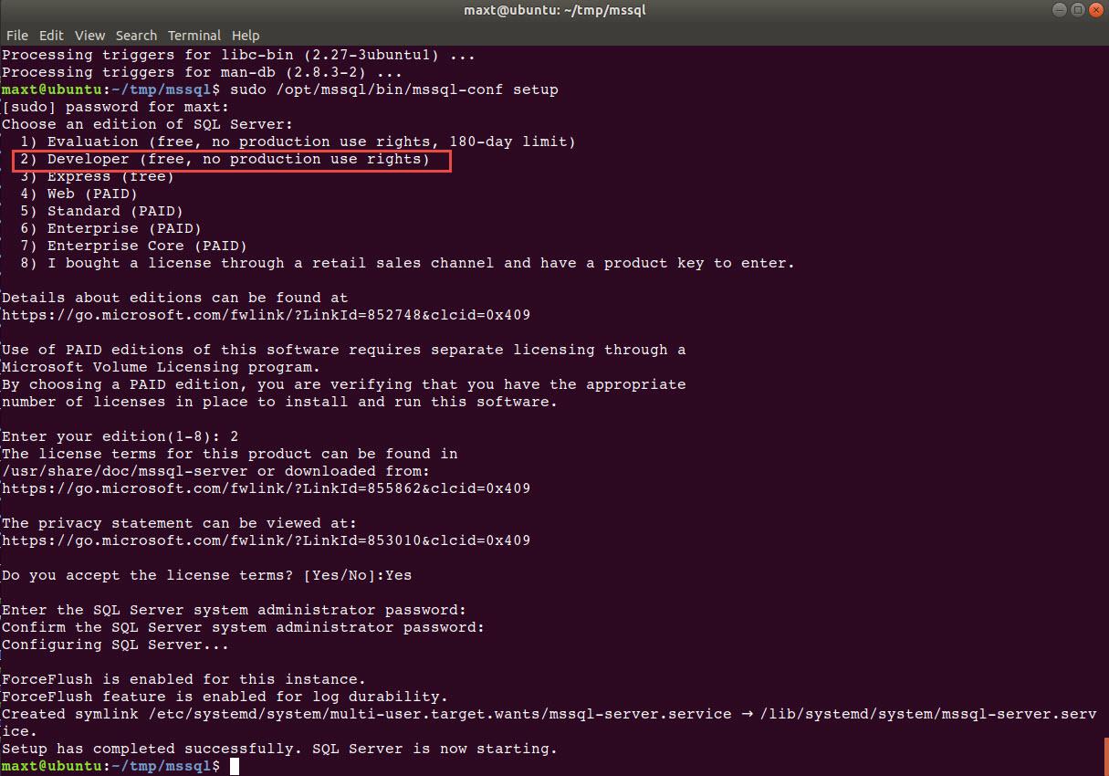 Installing MS SQL Server in Ubuntu 18 04 – Max Trinidad – The