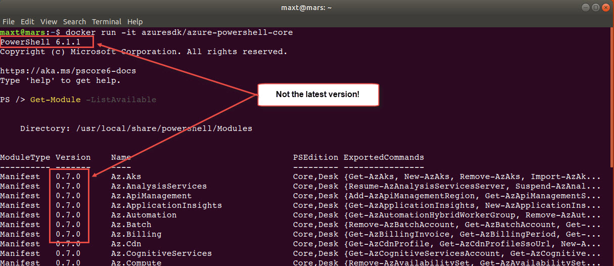 PowerShell Core Ubuntu 18 04 Using Docker Containers – Max Trinidad